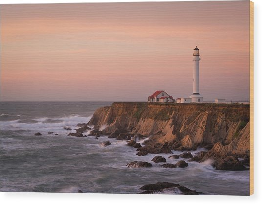 Usa, California, Point Arena Wood Print