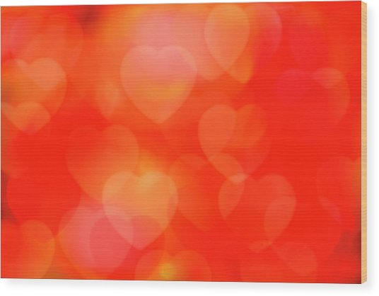 Valentine Background Wood Print by Tetra Images
