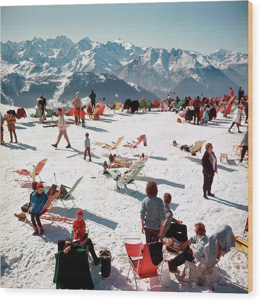 Verbier Vacation Wood Print