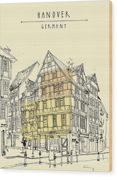 View Of Old Center In Hanover, Germany Wood Print