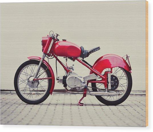 Vintage Italian Motorcycle Wood Print by Thepalmer