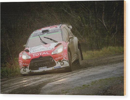 Wood Print featuring the photograph Wales Rally 2016 by Elliott Coleman