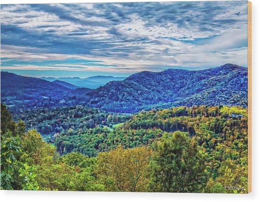 Walnut Cove Overlook Wood Print