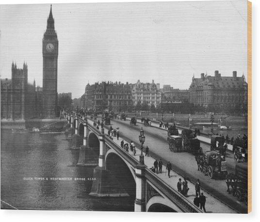Westminster Bridge Wood Print by London Stereoscopic Company