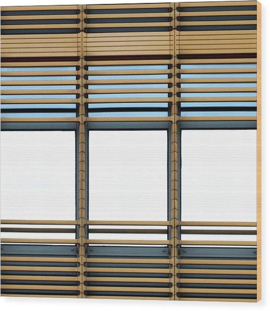 White Windows Wood Print