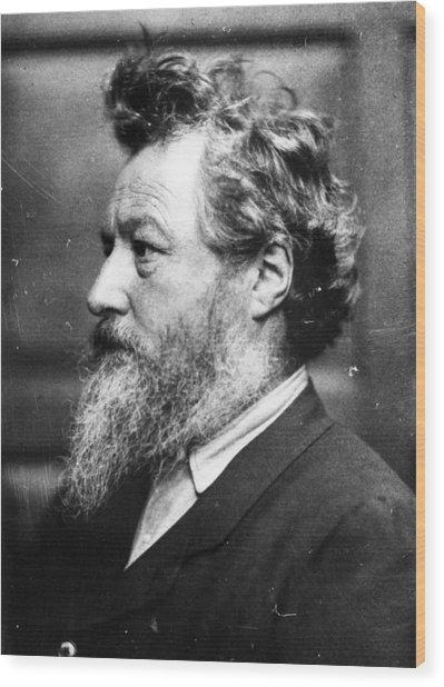 William Morris Wood Print by Frederick Hollyer