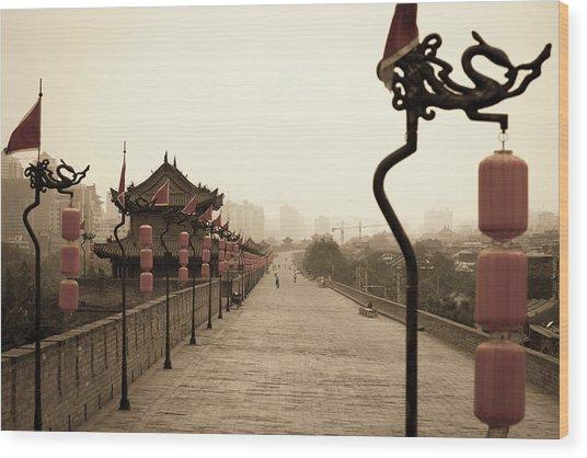 Xian City Wall, China Wood Print by Fototrav