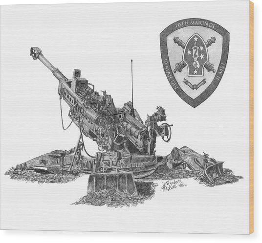 10th Marines 777 Wood Print
