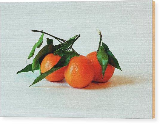 11--01-13 Studio. 3 Clementines Wood Print
