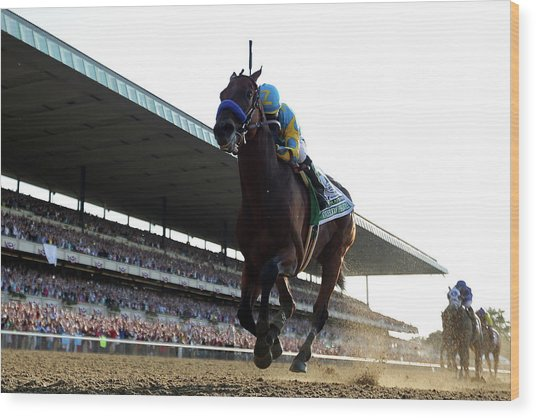 147th Belmont Stakes Wood Print by Rob Carr