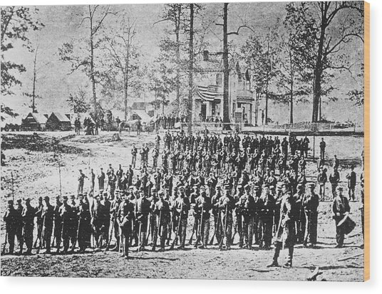 149th Ny Volunteer Regiment Wood Print by Archive Photos