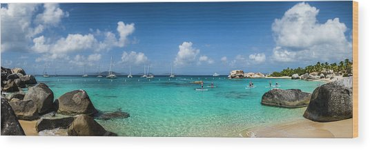British Virgin Islands, Virgin Gorda Wood Print by Walter Bibikow