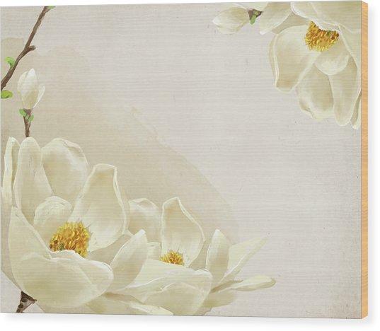 Peaceful Flower Wood Print by Eastnine Inc.