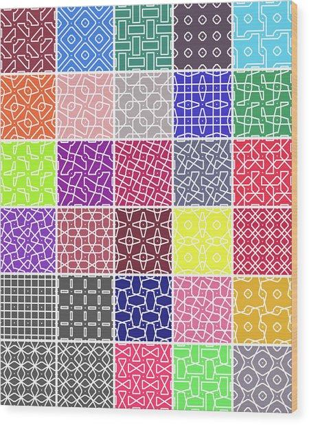 16 Connect 2 Grid Wood Print