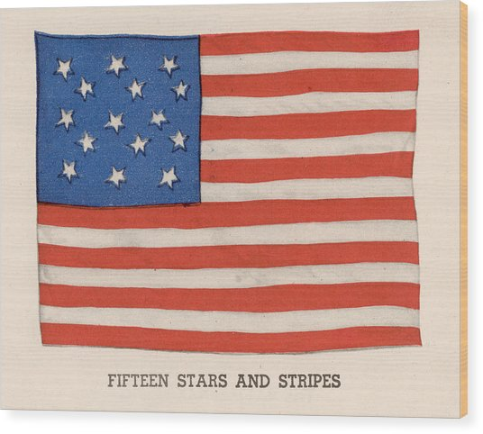 1794 American Flag Wood Print by Kean Collection