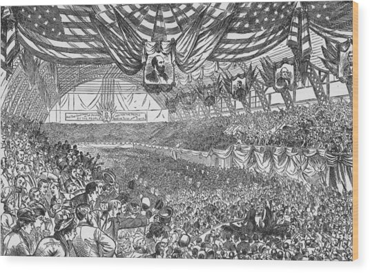 1884 Republican National Convention Wood Print by Kean Collection