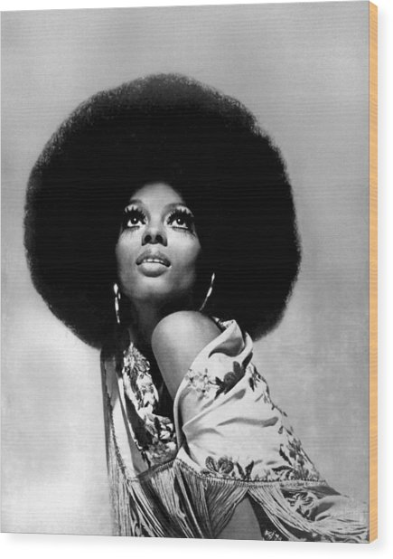 Diana Ross Portrait Session Wood Print by Harry Langdon