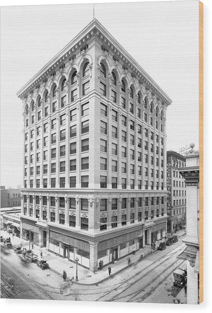 1912 Central Building  Los Angeles  Ca Wood Print