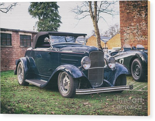 1932 Ford Convertible Custom Car Wood Print