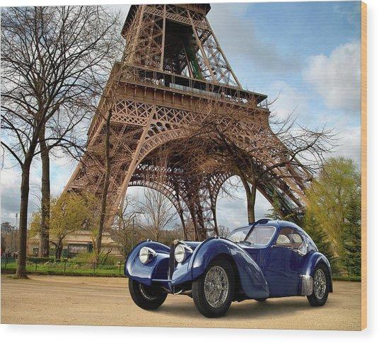 1938 Bugatti Type 57sc Electron Wood Print