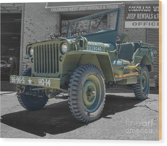 1942 Willys Gpw Wood Print