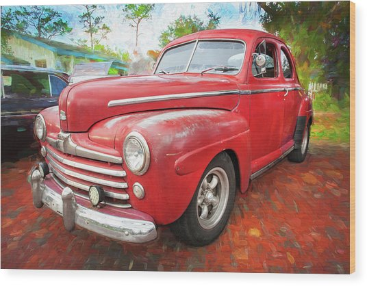 1947 Ford Super Deluxe Coupe 001 Wood Print