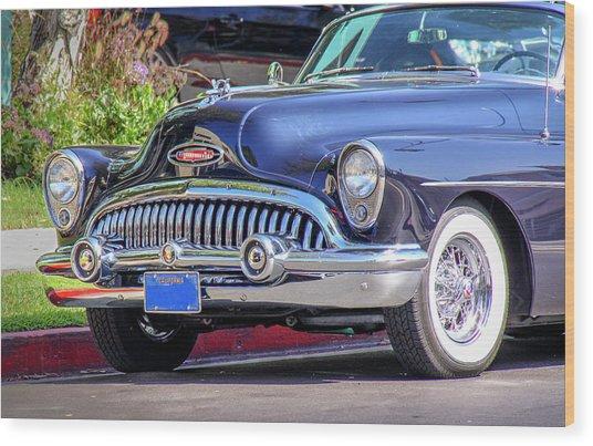1953 Buick Skylark - Chrome And Grill Wood Print