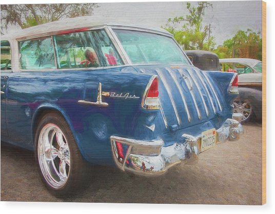 1955 Chevrolet Bel Air Nomad Station Wagon 228 Wood Print