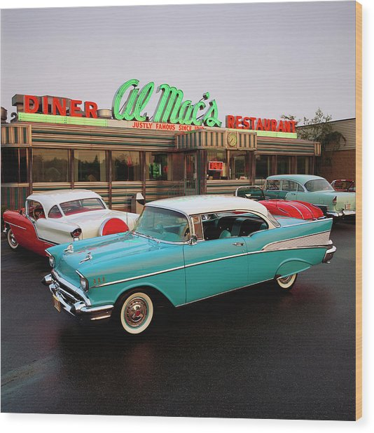 1957 Chevrolet Bel Air Sports Coupe Wood Print
