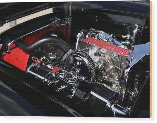 1957 Chevrolet Corvette Engine Wood Print