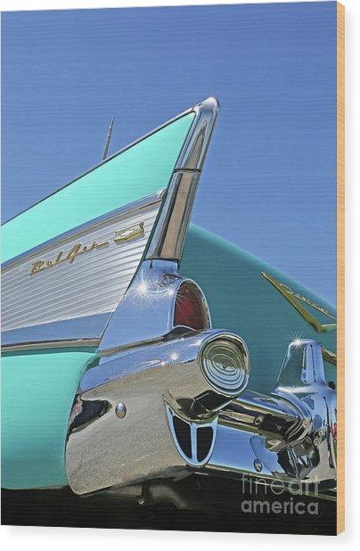 1957 Chevy Wood Print