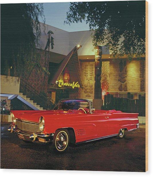 1960 Lincoln Continental Mark V Wood Print