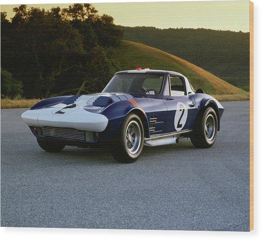 1963 Chevrolet Corvette Grand Sport Wood Print by Car Culture