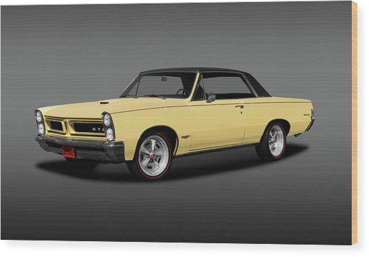 1965 Pontiac Gto Coupe  -  1965pontiacgtohdtpgray196775 Wood Print by Frank J Benz