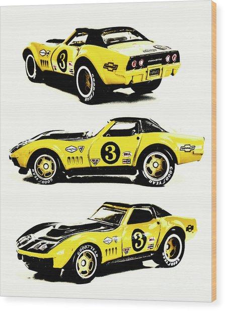 1969 Chevrolet Copo Corvette Wood Print