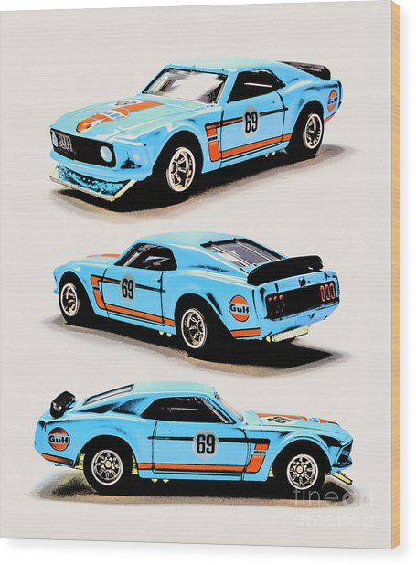 1969 Ford Mustang Boss 302 Wood Print