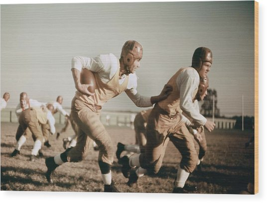 1930s High School Football Wood Print
