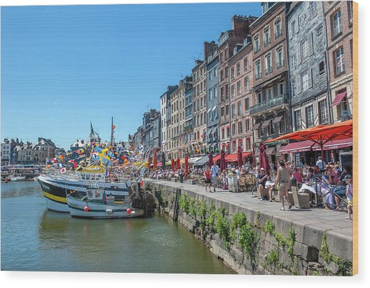 Avant Port, Honfleur, Normandy, France Wood Print by Lisa S. Engelbrecht