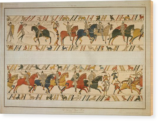 Bayeux Tapestry Wood Print by Hulton Archive