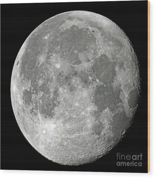 Carolina Moon Wood Print