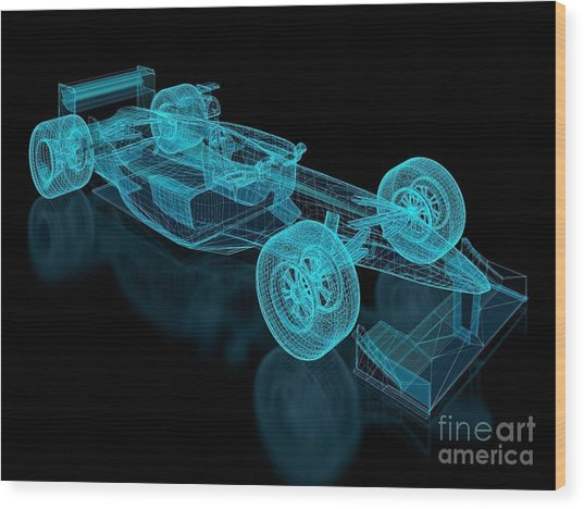 Formula One Mesh. Part Of A Series Wood Print