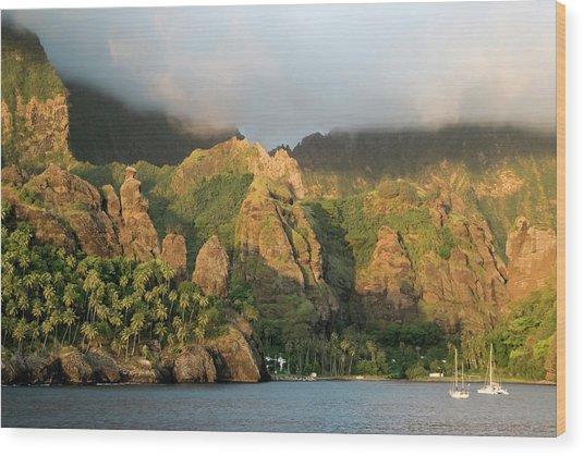 France, French Polynesia, Marquesas Wood Print by Gerault Gregory / Hemis.fr