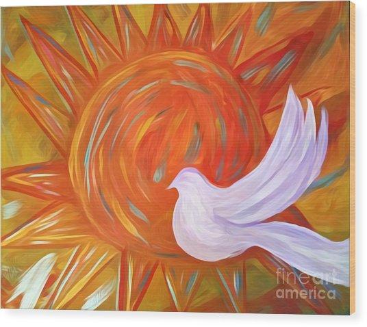 Healing Wings Wood Print