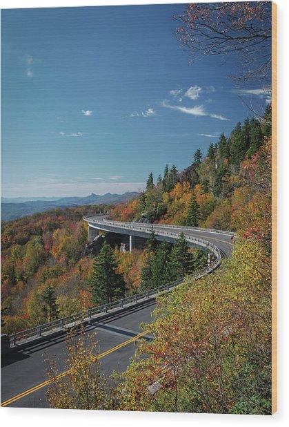 Linn Cove Viaduct - Blue Ridge Parkway Wood Print