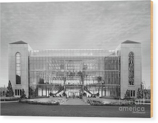 Loyola University Klarchek Commons Wood Print