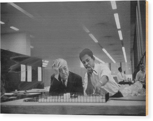 Ludwig Mies Van Der Rohe Wood Print by Frank Scherschel