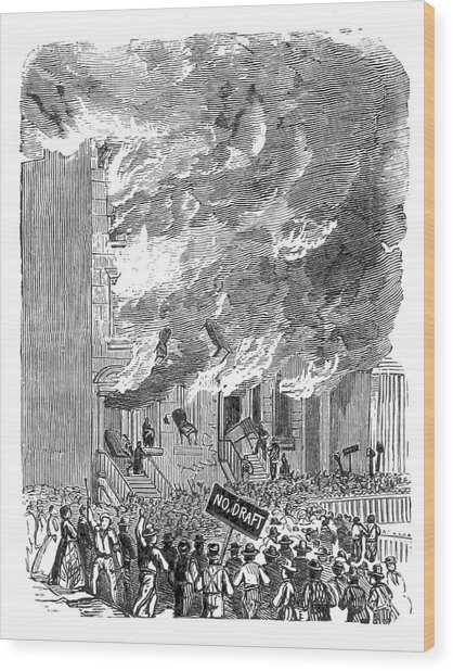 New York City Draft Riots, 1863 Wood Print by British Library