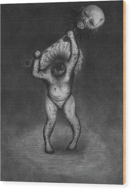 Nightmare Rattler - Artwork Wood Print