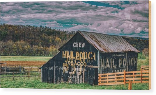 Old Mail Pouch Tobacco Barn Wood Print