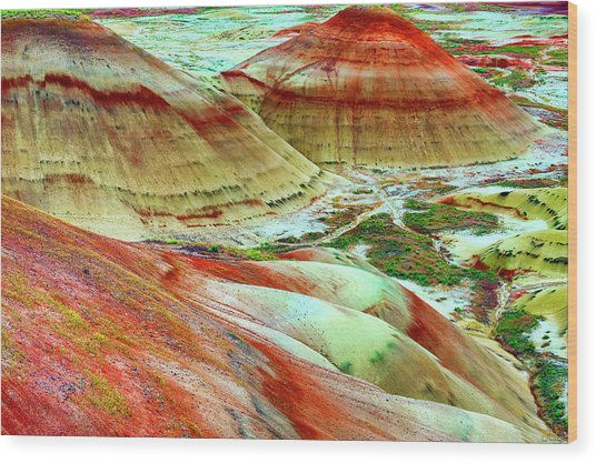Painted Hills John Day Fossil Beds Wood Print